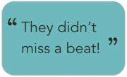 miss a beat