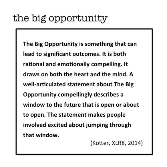 The Big Opportunity