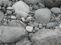 pebbles and boulders